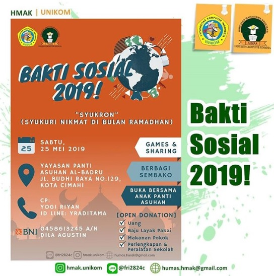 'Bakti Sosial 2019' Himpunan Mahasiswa Akuntansi