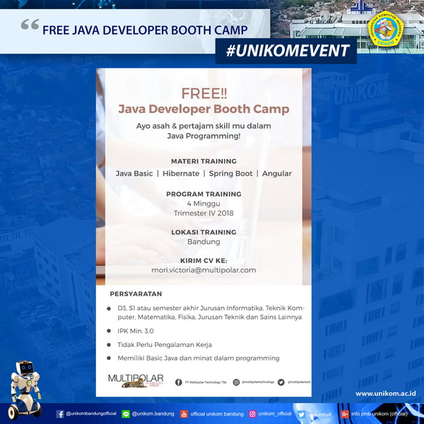 Free Java Developer Booth Camp