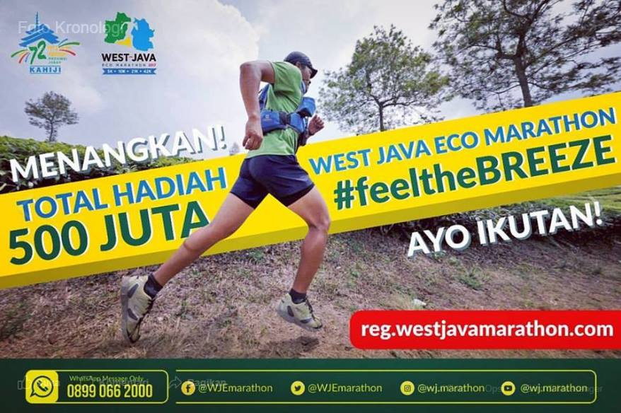 Ikuti tantangan berlari West Java ECO Marathon 2017