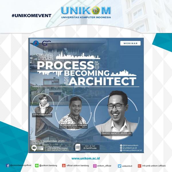Info Kegiatan Webinar Hima Arsitektur