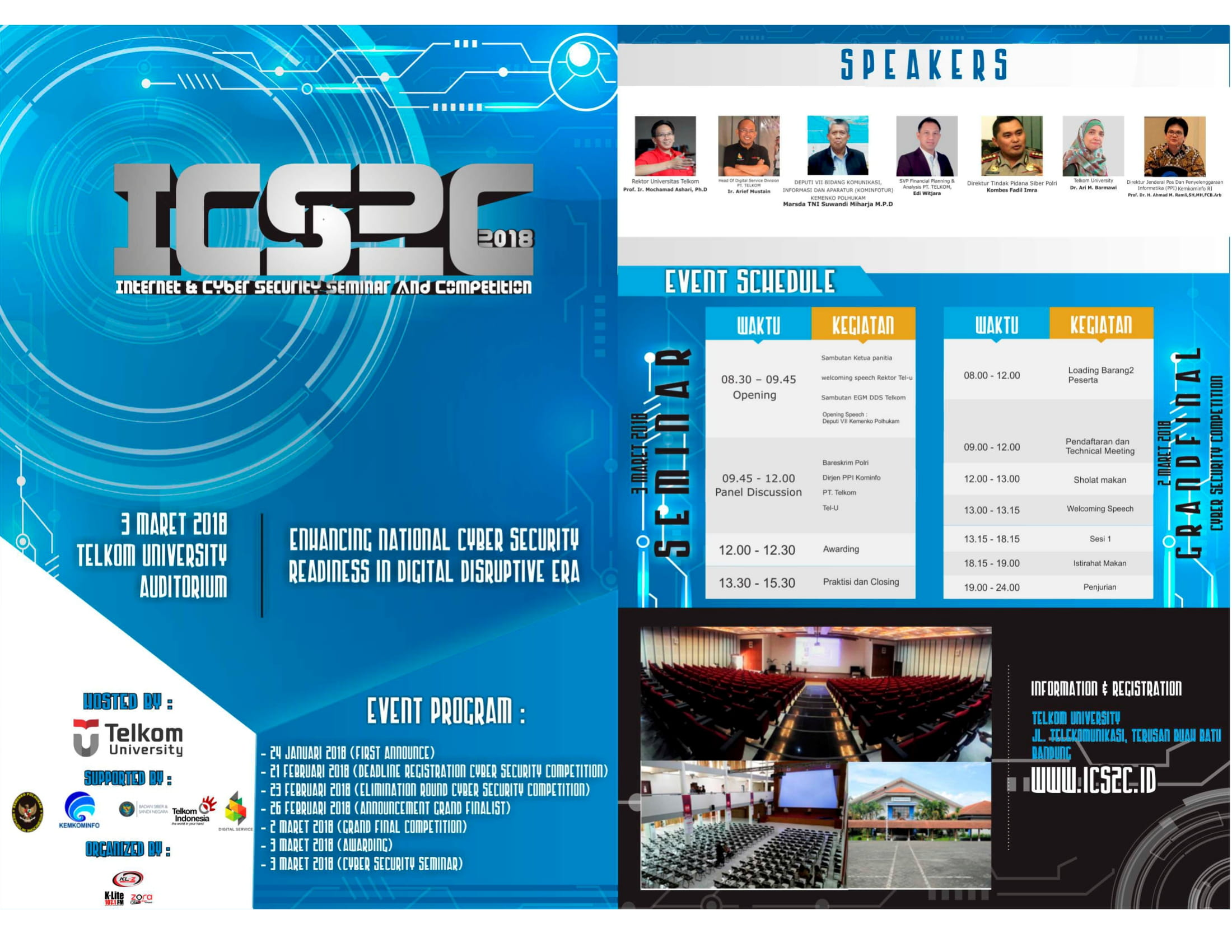 Internet & Cyber Security Seminar and Competition 2018 (ICS2C 2018)