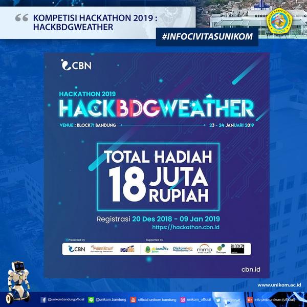 Kompetisi Hackathon 2019: Hackbdgweather