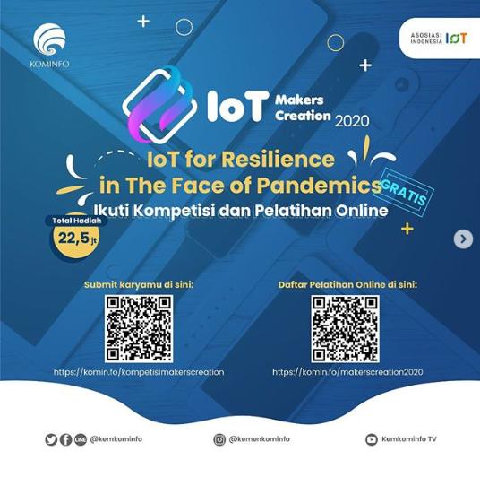 Kompetisi IOT Makers Creation Kementerian Komunikasi dan Informatika 2020