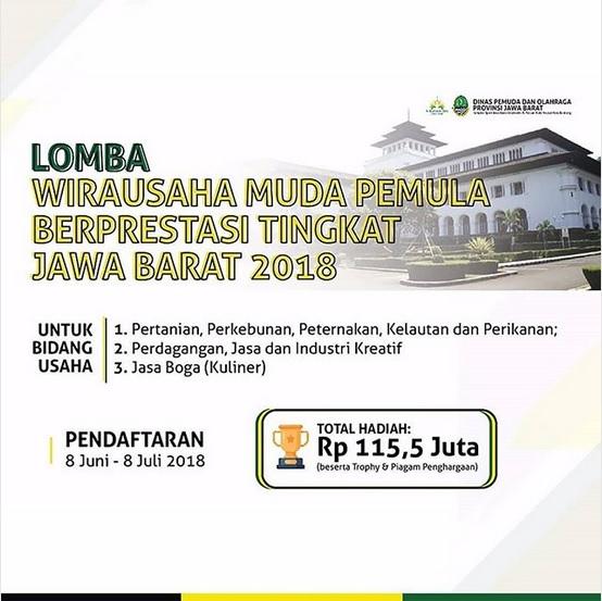 Lomba Wirausaha Muda Pemula Berprestasi Jawa Barat 2018