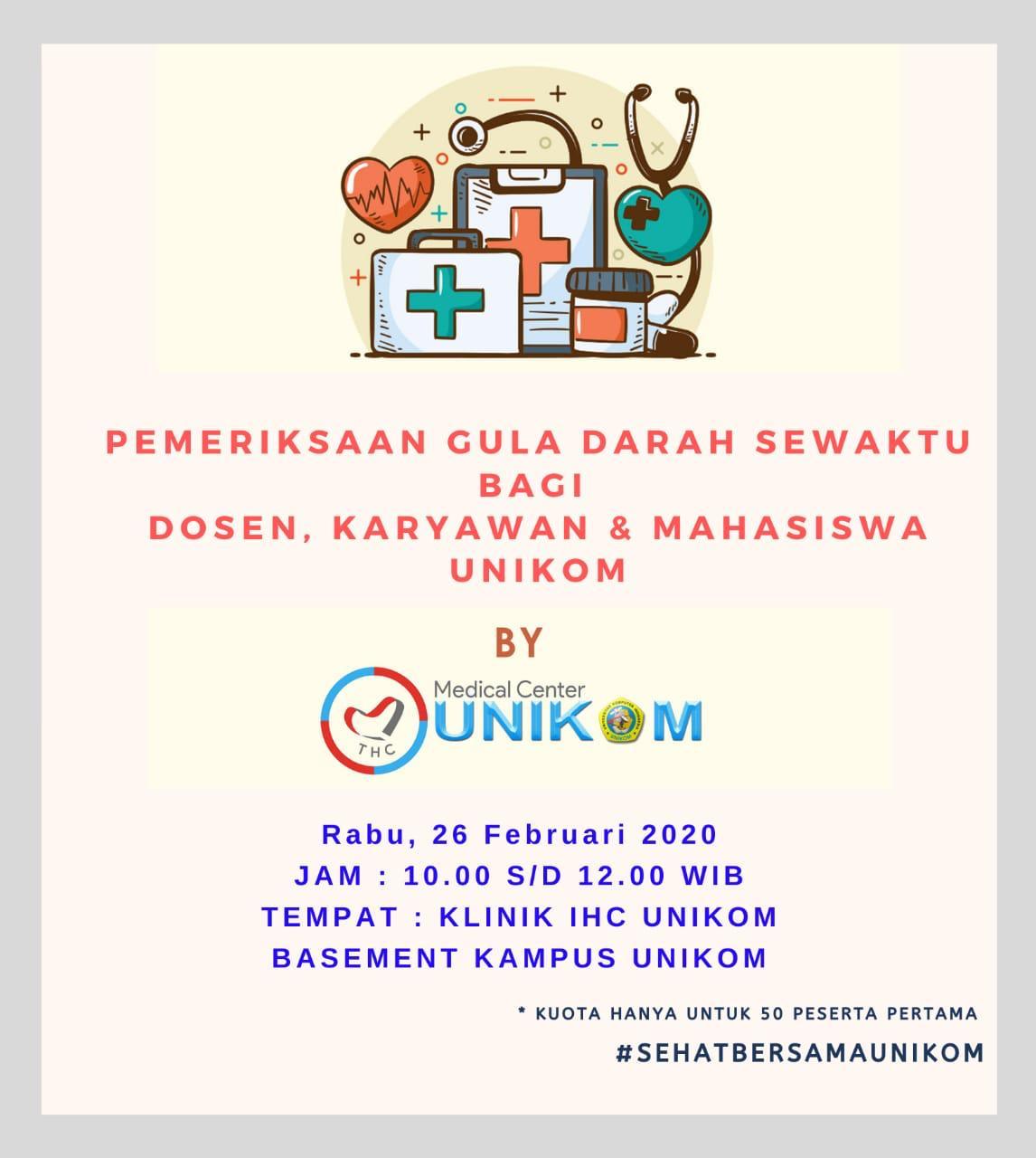 Medical Center Unikom : Pemeriksaan Gula Darah