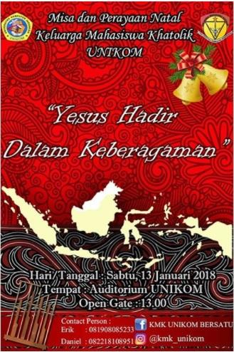 Misa dan Perayaan Natal Keluarga Mahasiswa Khatolik (KMK) Unikom