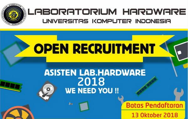 Open Recruitment Asisten Lab. Hardware 2018 Diperpanjang