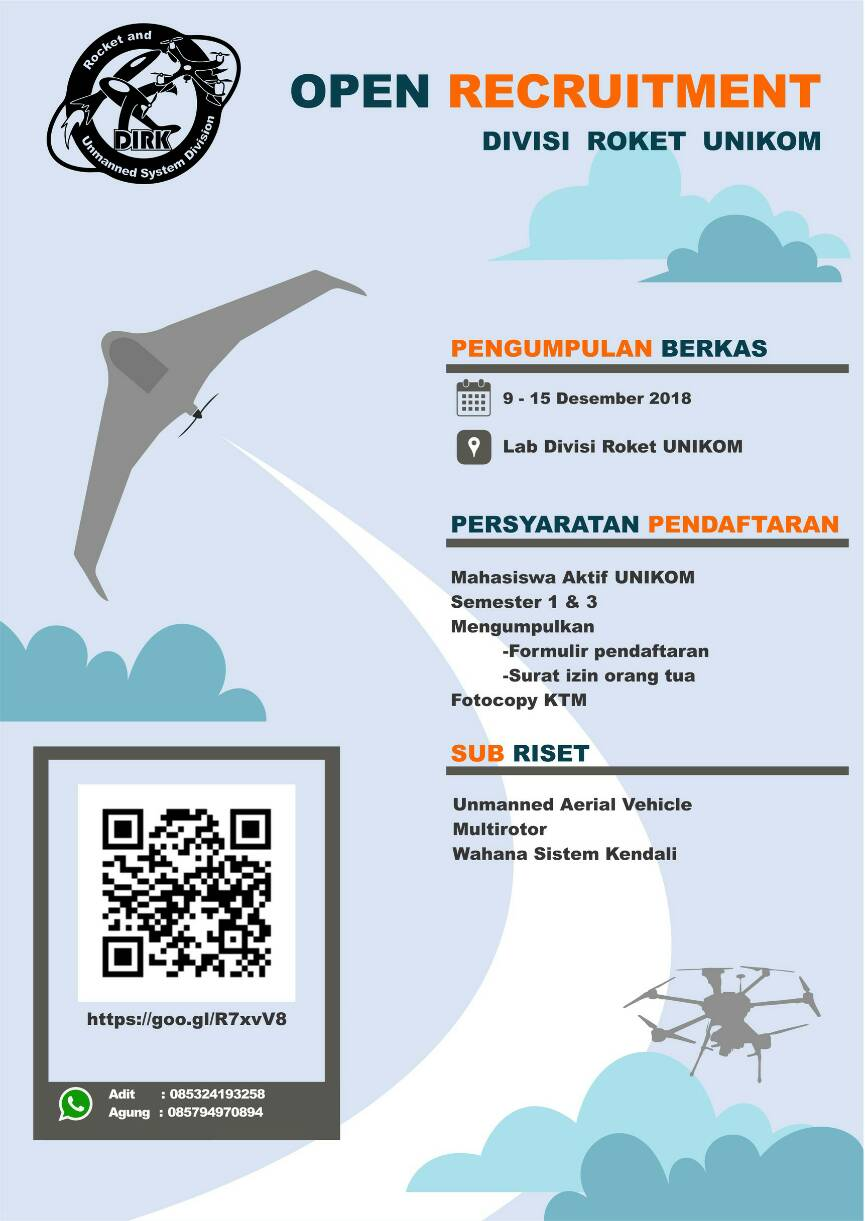 Open Recruitment: Divisi Roket Unikom
