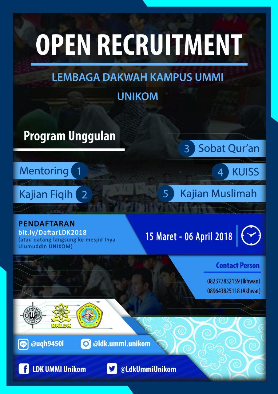 OPEN RECRUITMENT LDK UMMI 2018
