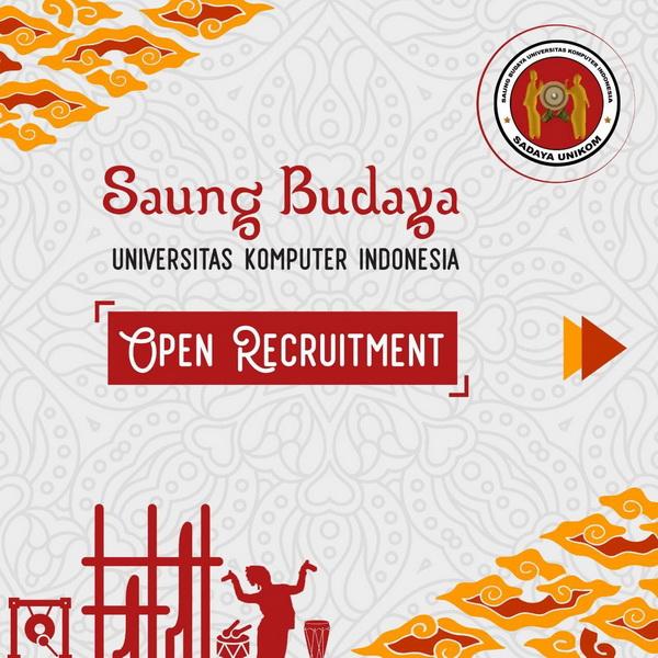 Open Recruitment Saung Budaya (Sadaya) Unikom
