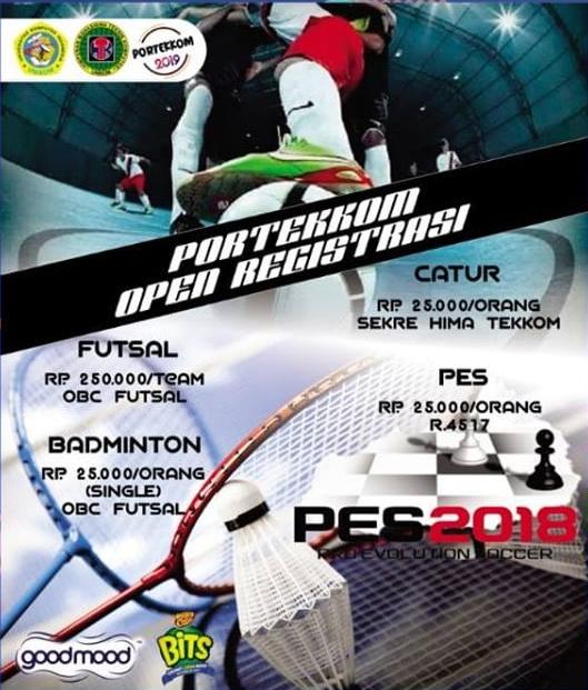 Registasi Pekan Olahraga Teknik Komputer