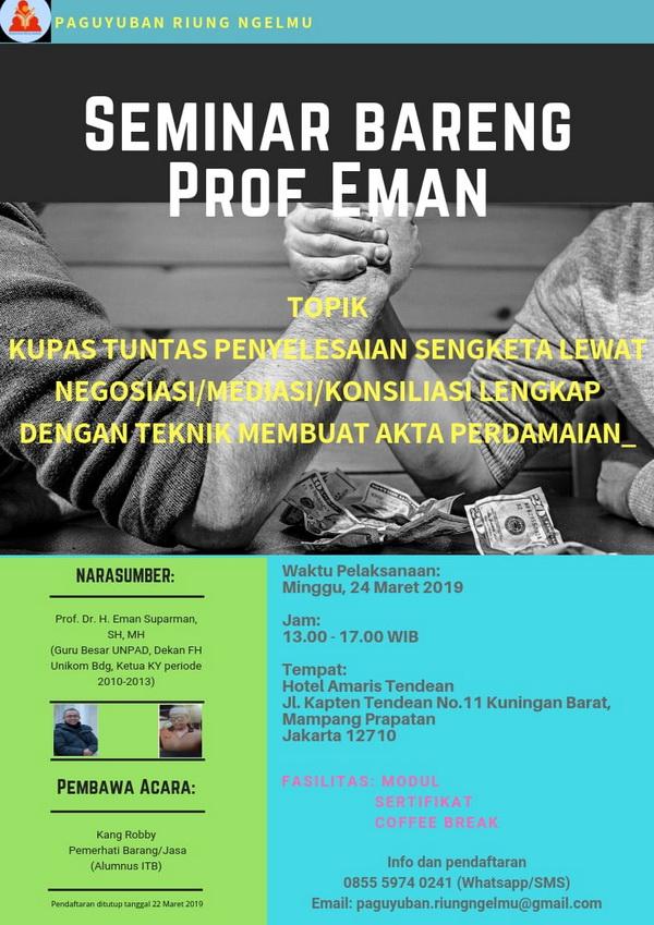 Seminar Hukum : Penyelesaian Sengketa