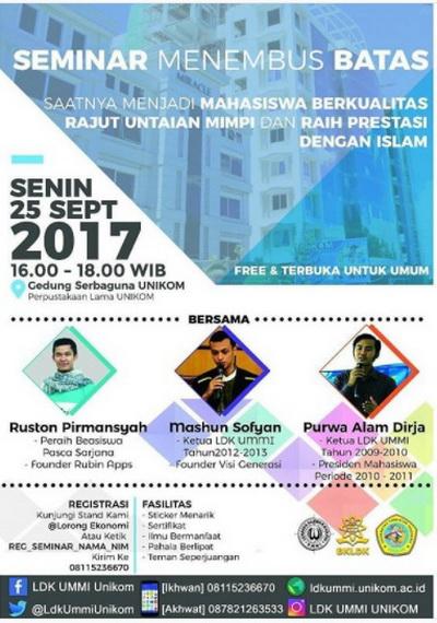 Seminar Menembus Batas-Ldk Ummi Unikom