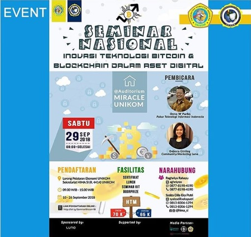 """Seminar Nasional """"Inovasi Teknologi Bitcoin & Blockchain Dalam Aset Digital"""""""
