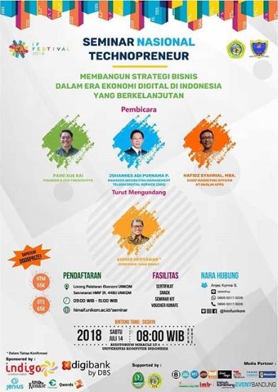Seminar Nasional Technopreneur 2018