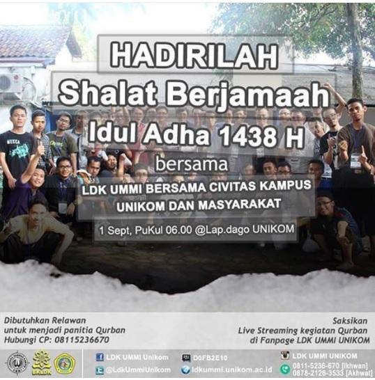 SHALAT BERJAMAAH IEDUL ADHA 1438 H