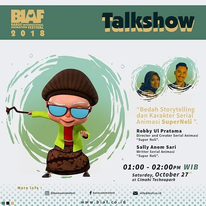 Talkshow : Bedah Storytelling & Karakter Serial Animasi SuperNeli