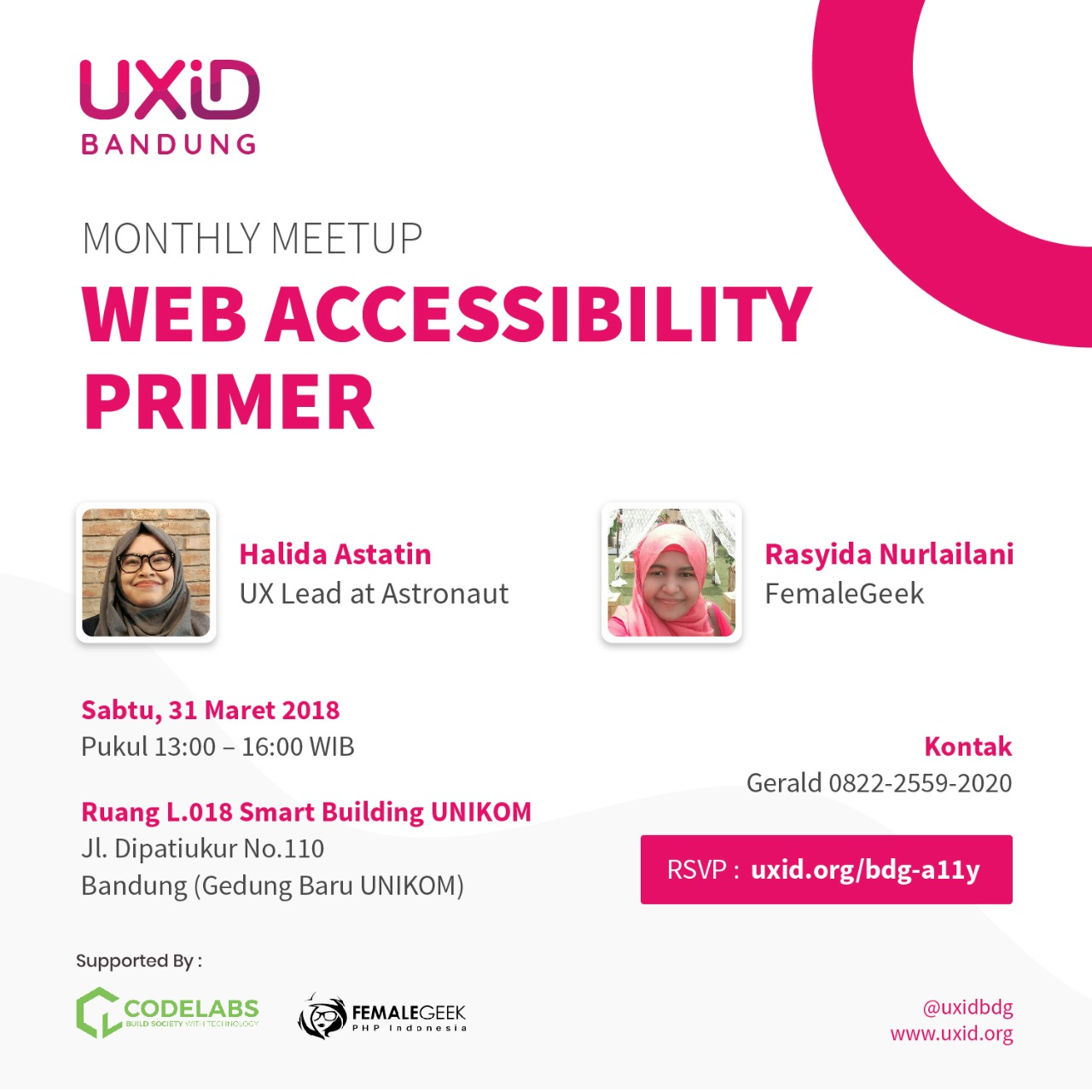 UXiD Bandung Monthly Meetup :  Web Accessibility Primer