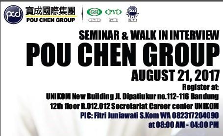 Walk In Interview dan Seminar dari PT Nikomas Gemilang