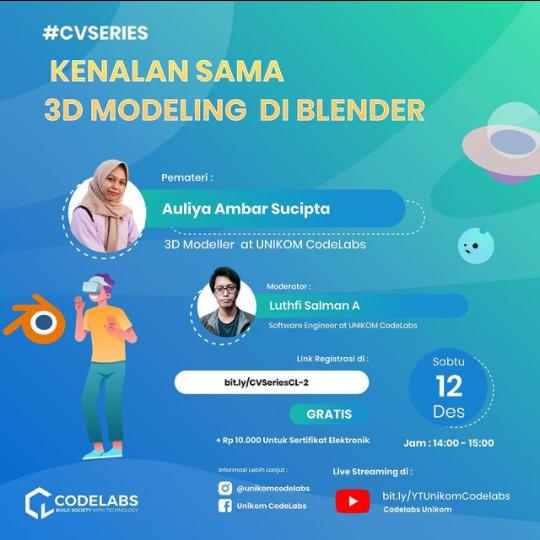 Webinar Codelabs Unikom : 3D Modeling