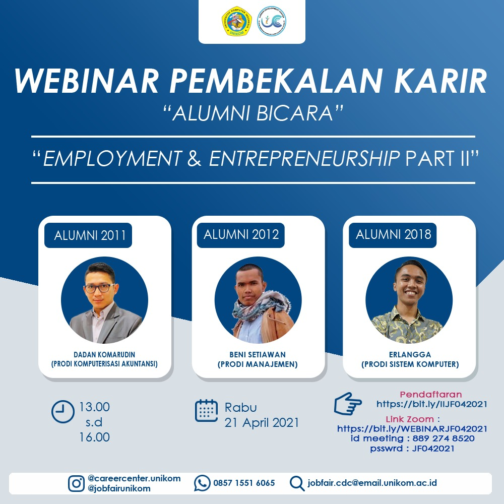 Webinar Pembekalan Karir : Alumni Bicara Employement & Entrepreneurship Part II