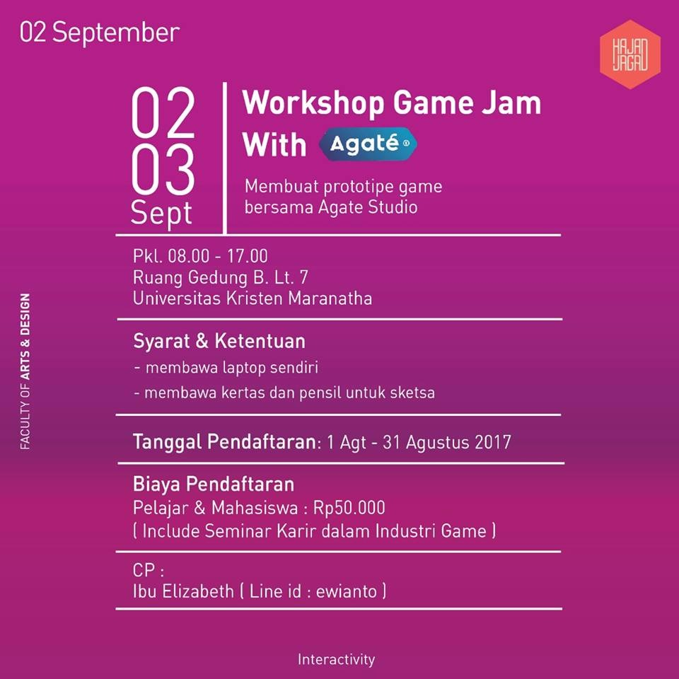 Workshop Game Jam with Agate