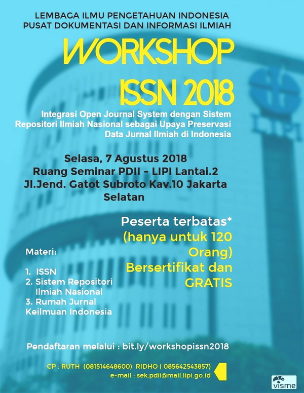 Workshop ISSN 2018