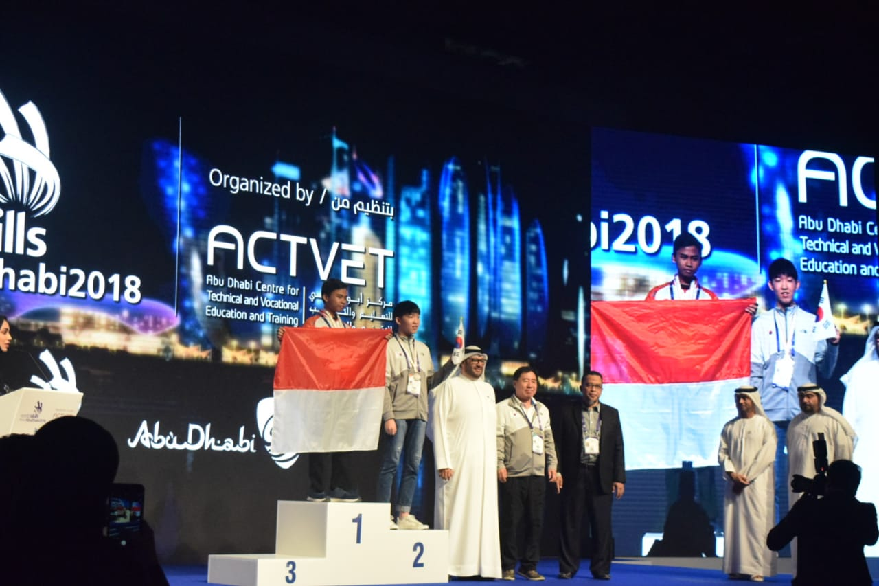 JUARA 1 ICT - WORLD SKILLS ASIA 2018, ABU DHABI UEA (Foto ke-3)