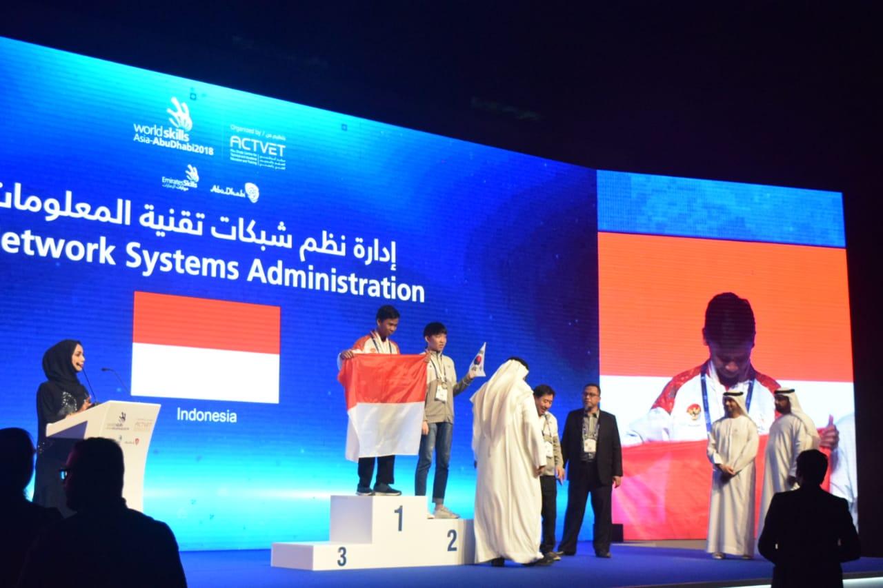 JUARA 1 ICT - WORLD SKILLS ASIA 2018, ABU DHABI UEA (Foto ke-4)