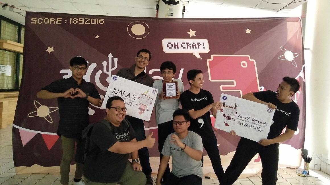 Tim Ada Game Studio dari UNIKOM Codelabs dengan aplikasi tapto menjadi juara ke 2 dan Visual Terbaik di kompetisi IDGS