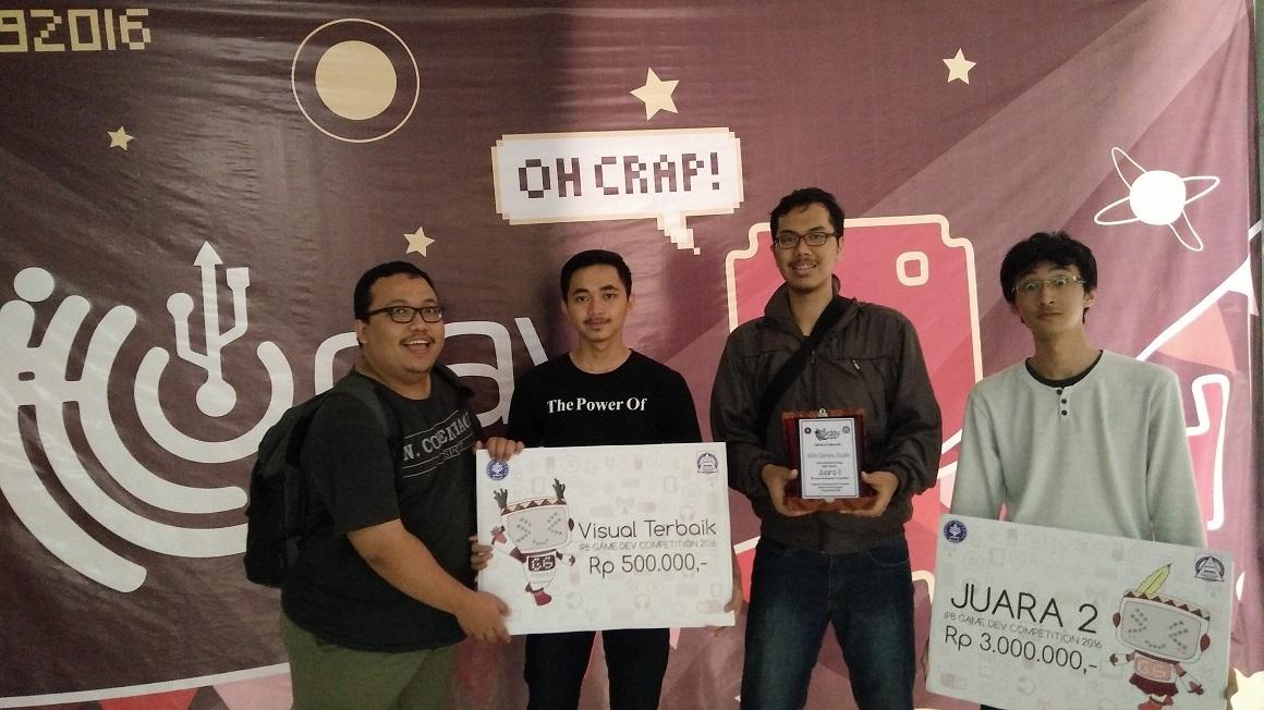 Tim Ada Game Studio UNIKOM Codelabs Dengan aplikasi Tapto menjadi juara ke 2 dan visual terbaik di kompetisi IDGS
