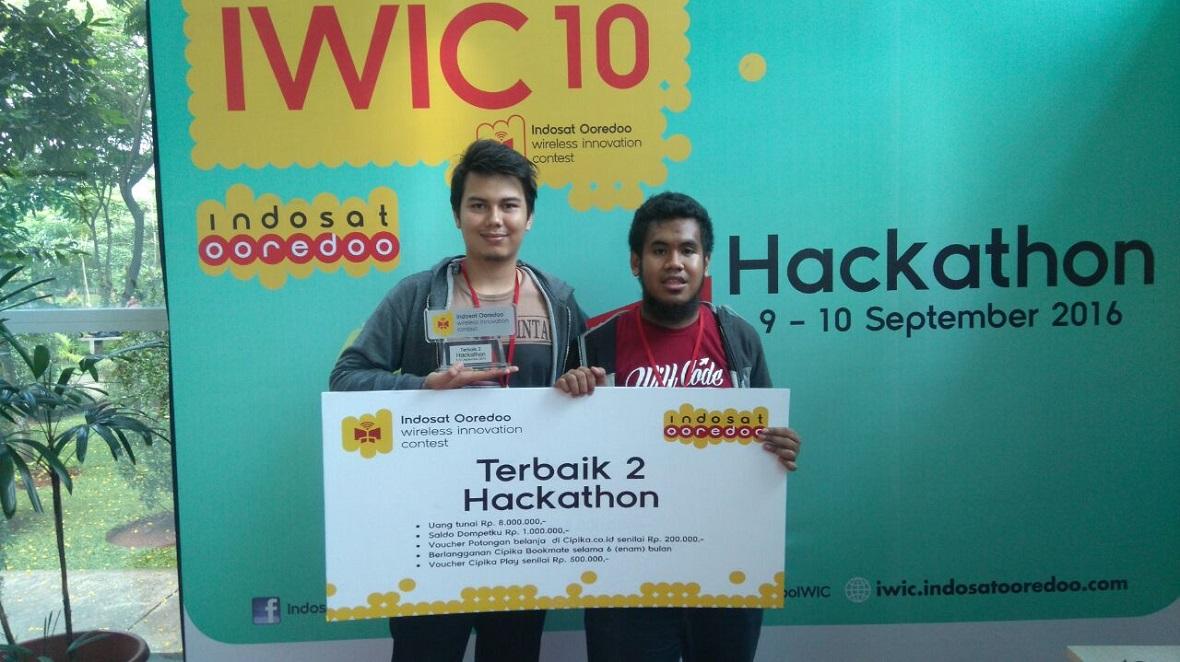 Tim dari UNIKOM Codelabs dengan aplikasi colornesia menjadi Terbaik 2 di Hackathon IWIC